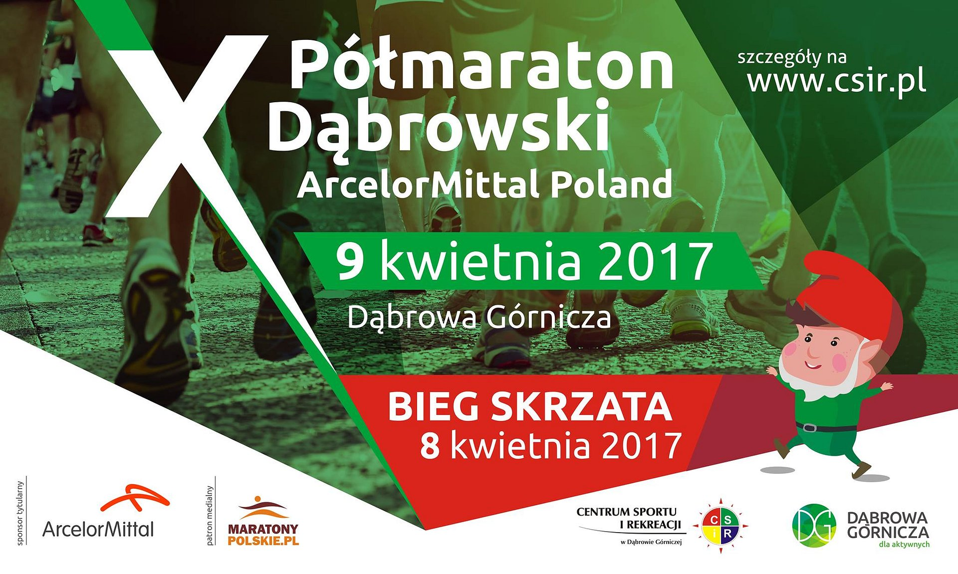 Jubileuszowy Półmaraton Dąbrowski z PKO Bankiem Polskim