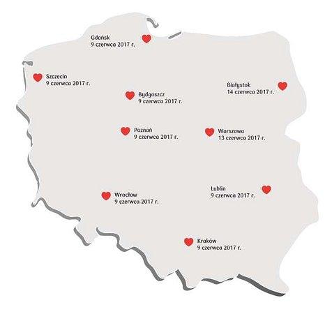 13 czerwca Bankowa Akcja Honorowego Krwiodawstwa odwiedzi Warszawę