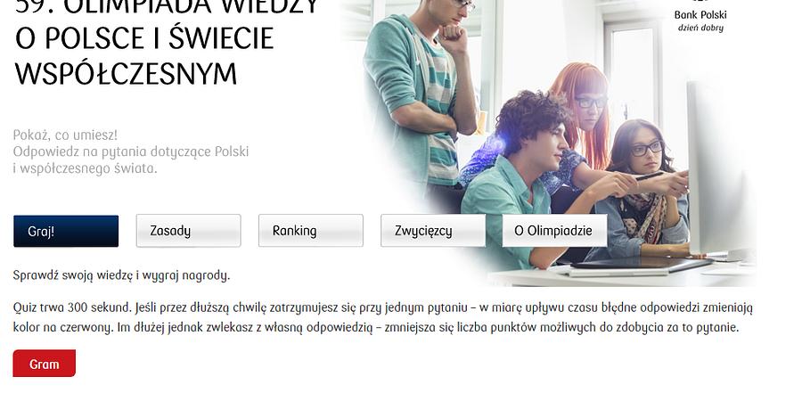 Przygotuj się do 59. Olimpiady Wiedzy o Polsce i Świecie Współczesnym  - zdobądź nagrody z aplikacją PKO Banku Polskiego