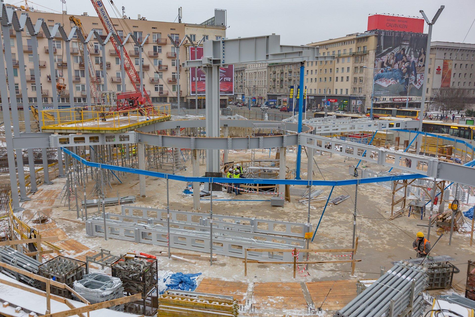 Rewitalizacja Rotundy PKO Banku Polskiego. Budowa części naziemnej