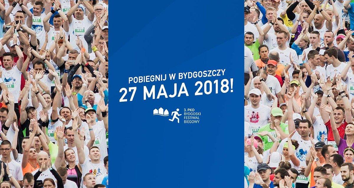 3. PKO Bydgoski Festiwal Biegowy. Spotkajmy się 27 maja w Bydgoszczy!