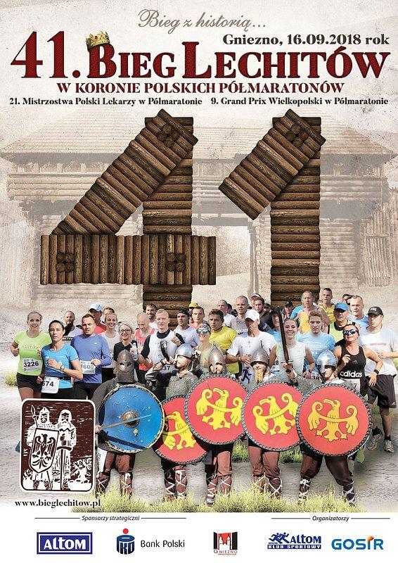 41. Bieg Lechitów z historią w tle. Półmaratończycy pobiegną Szlakiem Piastowskim dla Damiana
