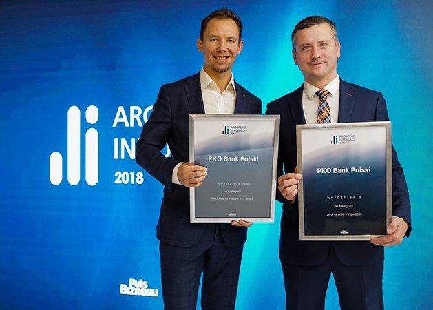 PKO Bank Polski podwójnie wyróżniony w konkursie Architekci Innowacji