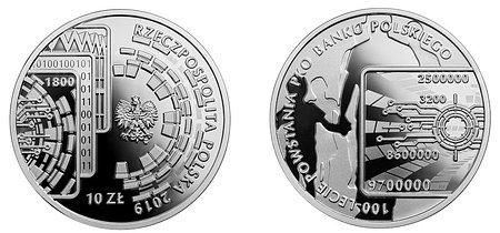 Kolekcjonerska moneta z okazji 100-lecia powstania PKO Banku Polskiego