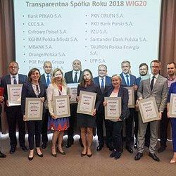 """PKO Bank Polski """"Transparentną Spółką Roku 2018"""""""