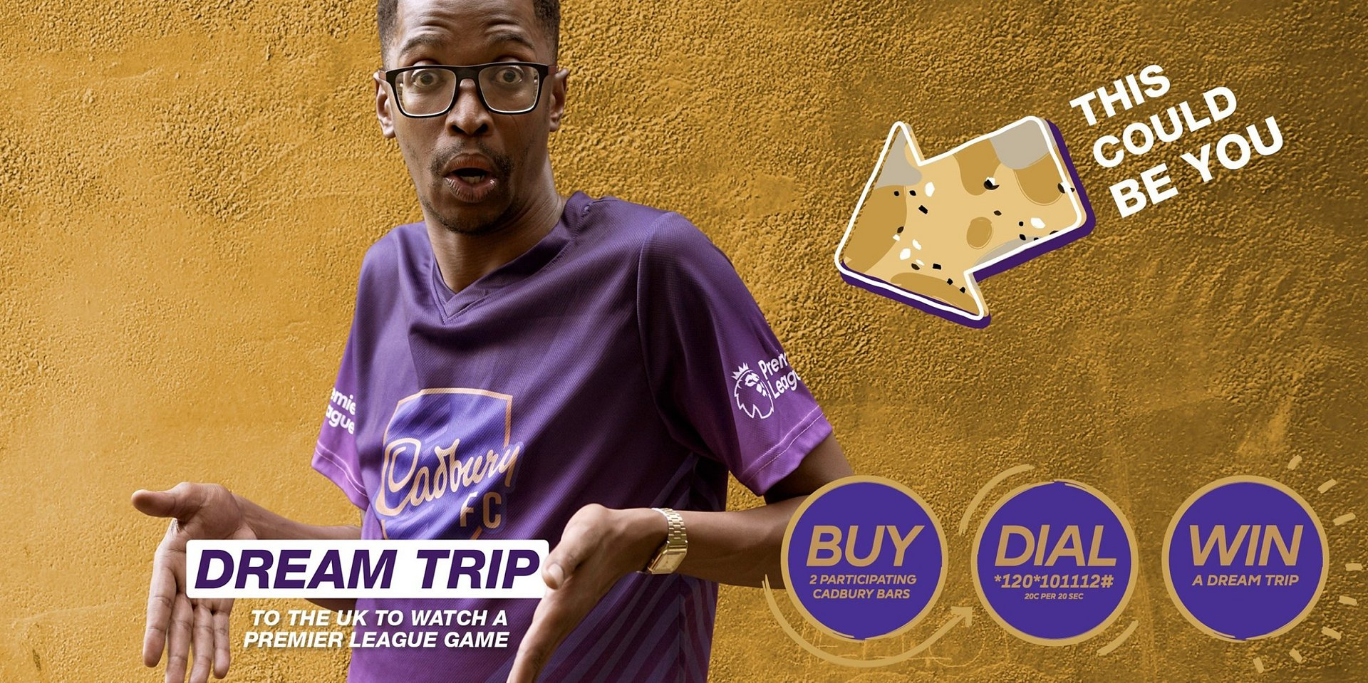 Join The Every Fan Man as he shows fans how they can 'Taste The Action' with Cadbury