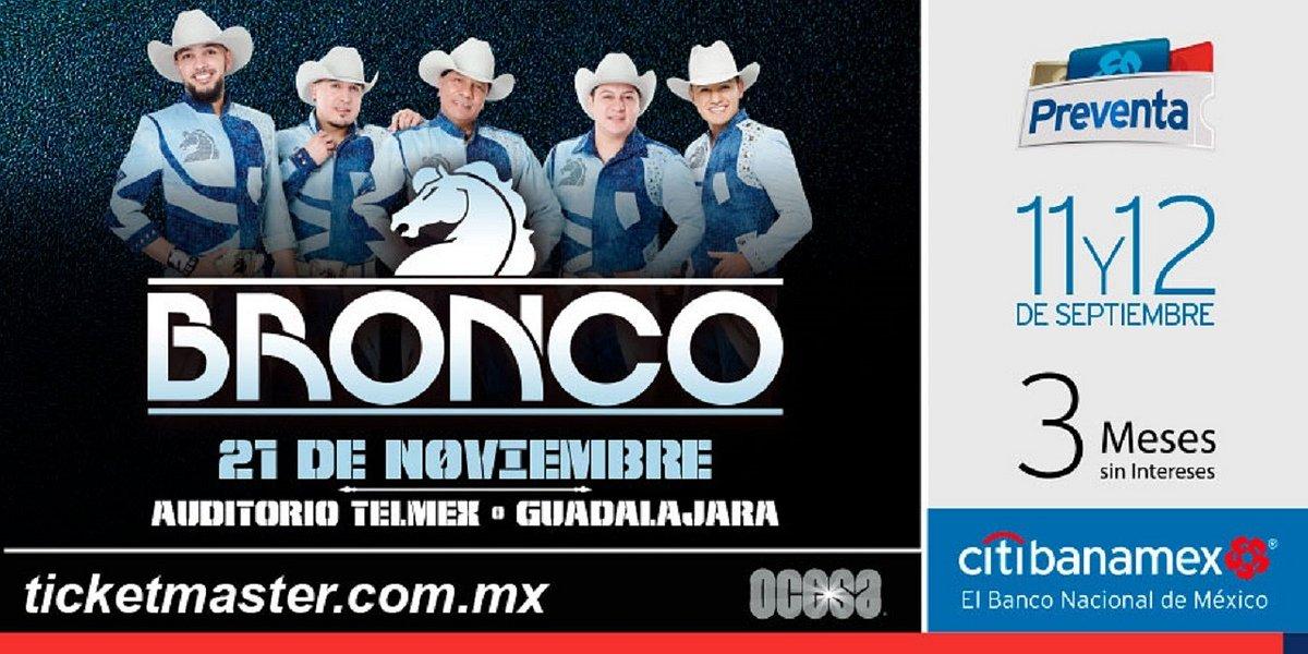 Bronco llegará a la Perla Tapatía para ofrecer uno de los mejores conciertos del año