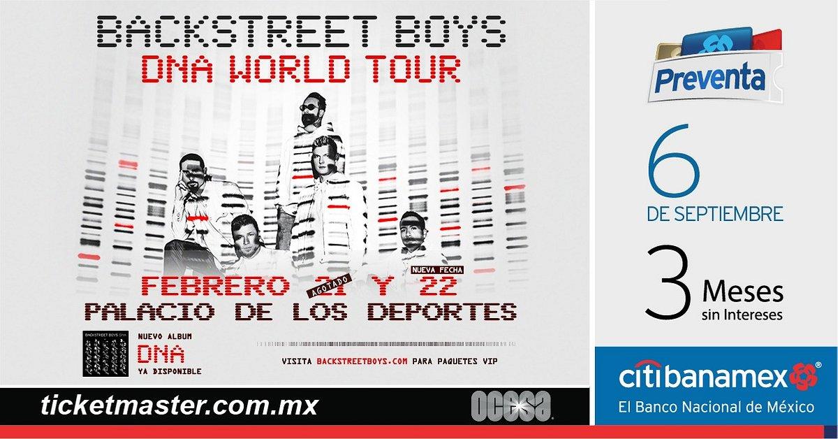 BACKSTREET BOYS ANUNCIAN SEGUNDA FECHA EN MÉXICO