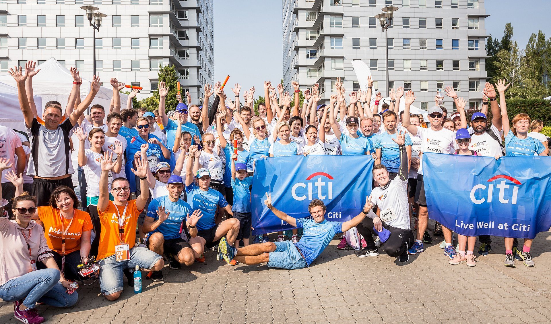 #CitiVolunteers biegną w Warszawa Business Run