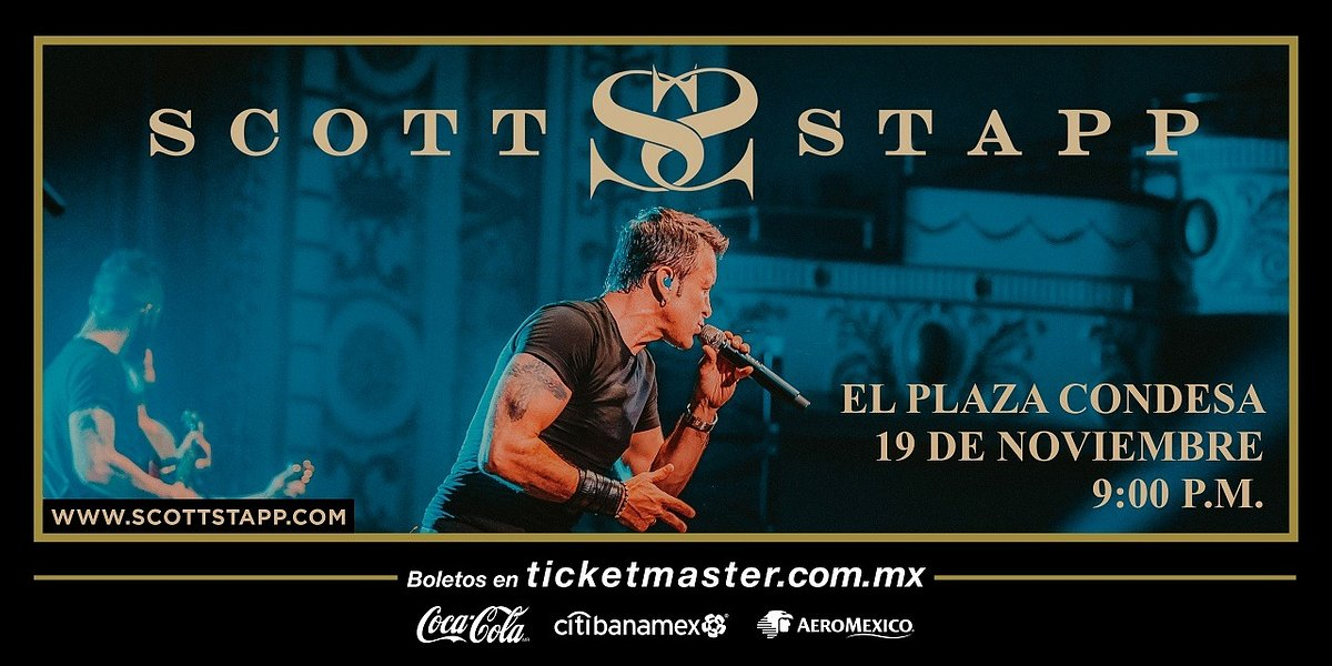 Scott Stapp llegará a México con The space between the shadows, su primer álbum en seis años