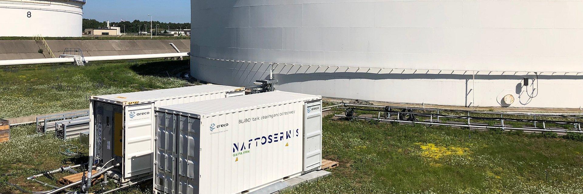 Naftoserwis skutecznie zrealizował pierwsze zlecenie czyszczenia zbiornika na ropę