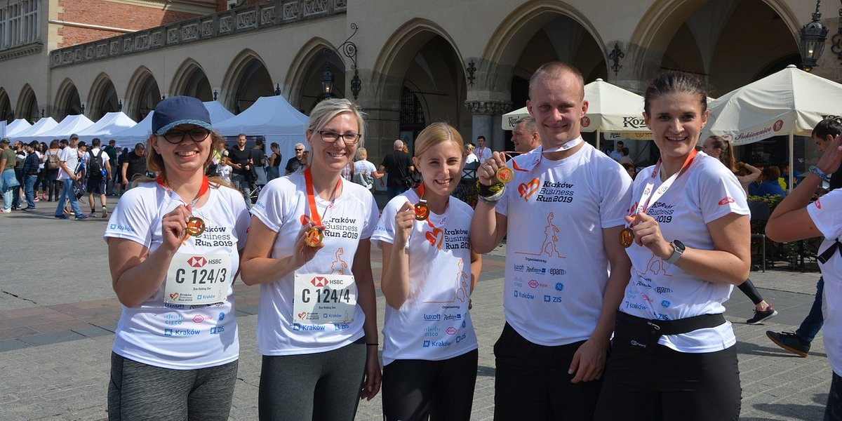 Holding 1 na Poland Business Run 2019