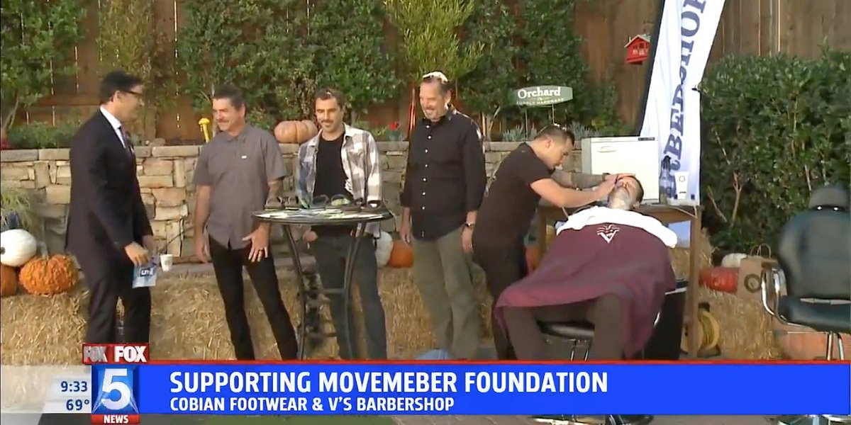 Fox 5 Features Cobian's Partnership with the Movember Foundation