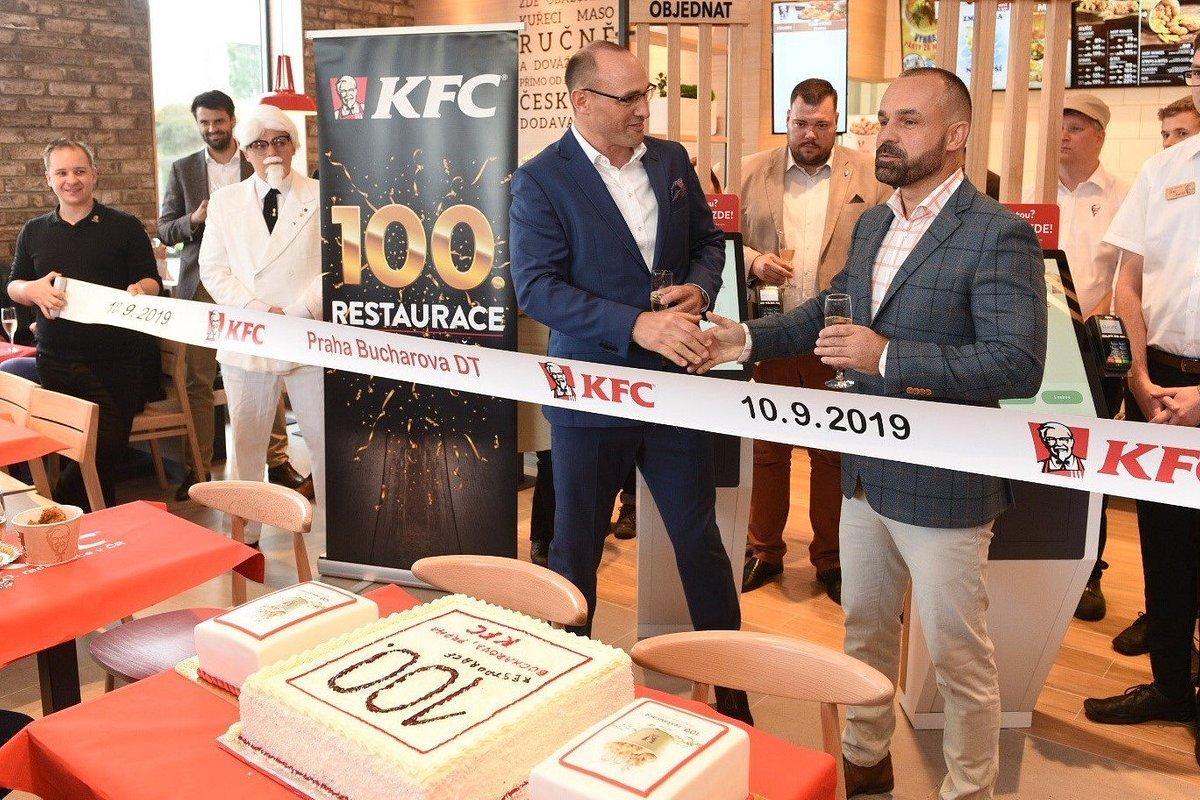 100. restauracja KFC w Czechach