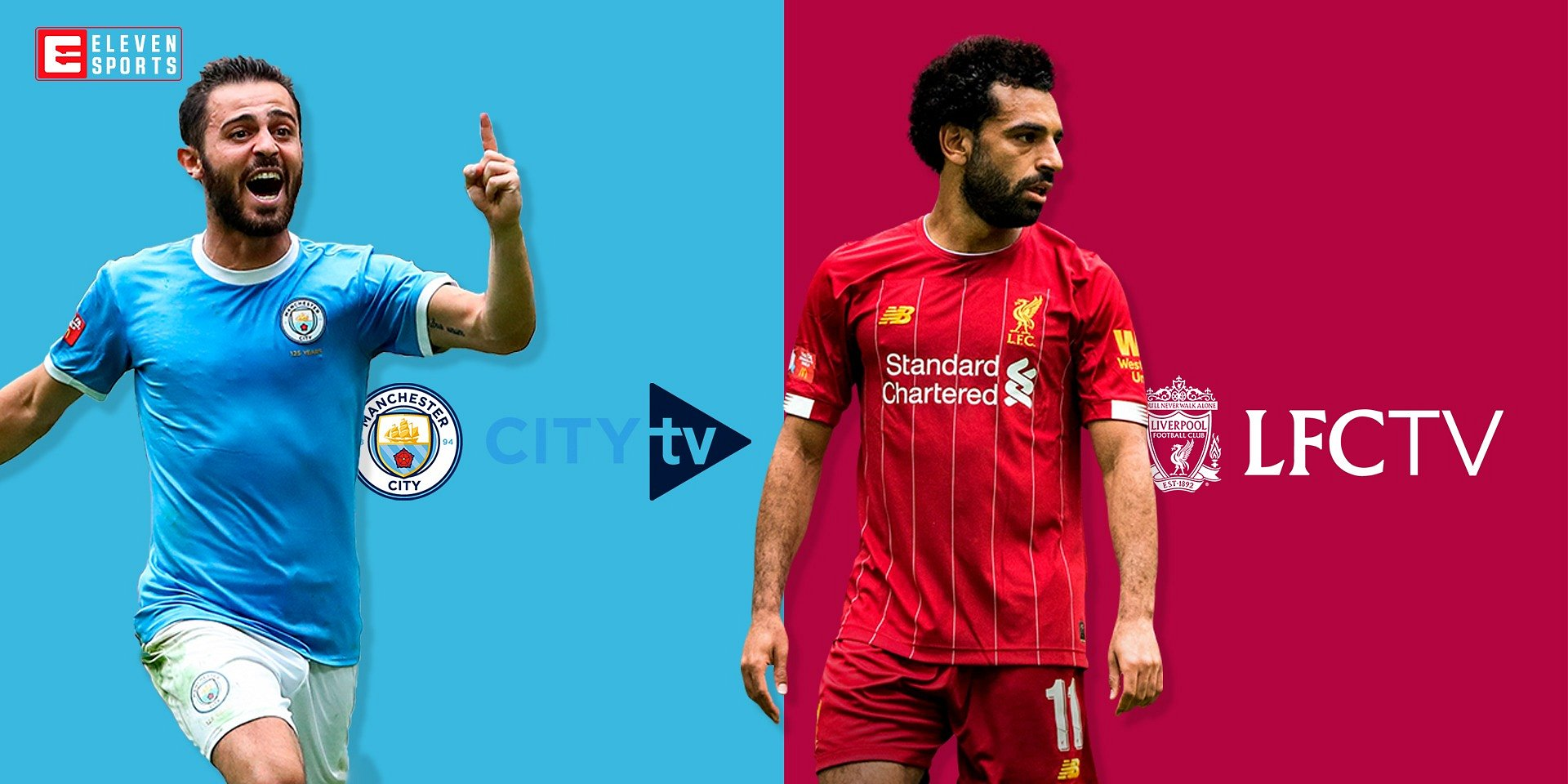 Manchester City TV e Liverpool TV chegam à Eleven Sports