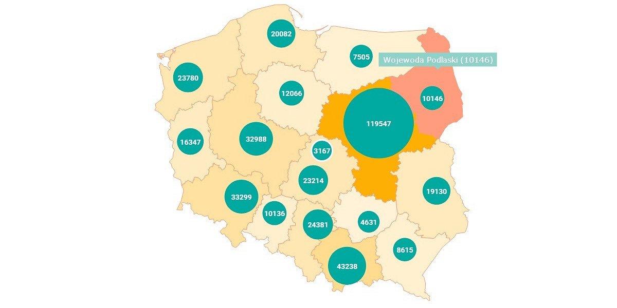 Podlaskie: 10 tys. cudzoziemców z ważnymi zezwoleniami na pobyt - 50% stanowią Białorusini