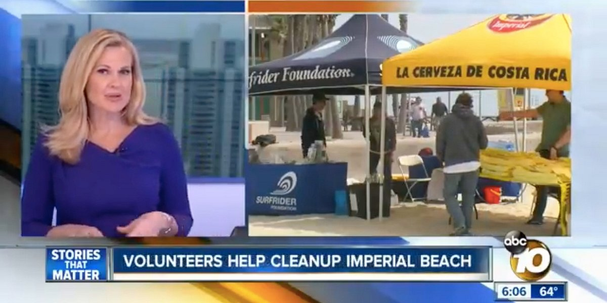 ABC 10 Spotlights Imperial Beach Clean Up Event