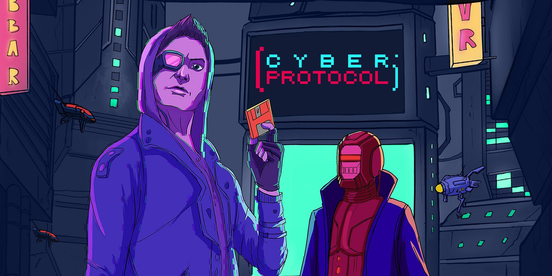 Become better than Hackerman in arcade hacking game – Cyber Protocol exclusive for Nintendo Switch