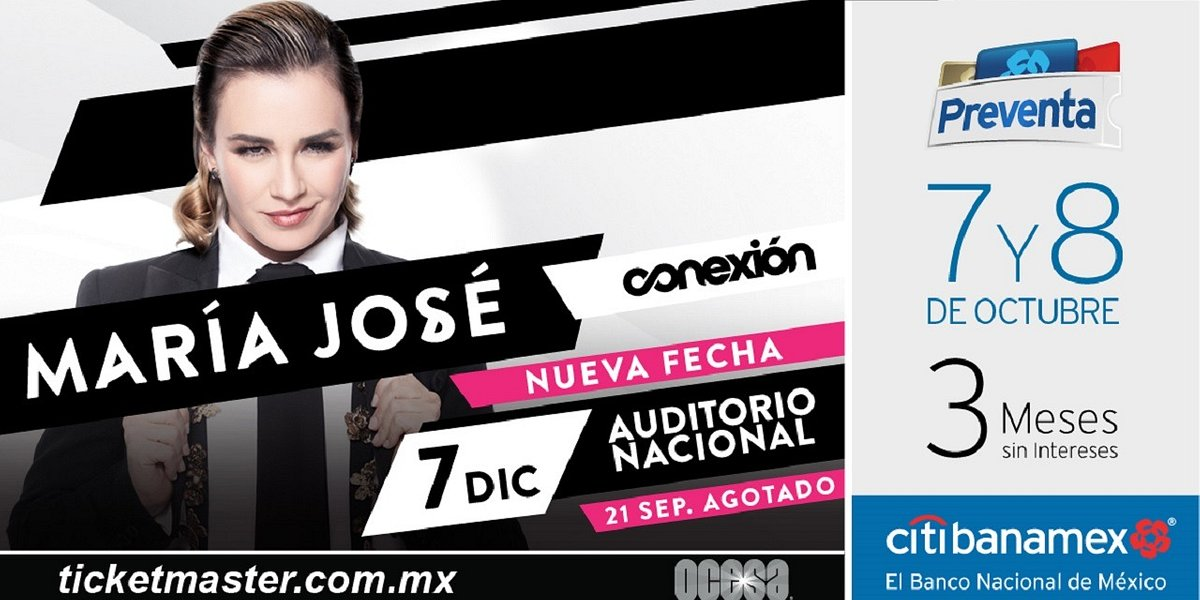 Después de su show SOLD OUT, María José regresa al Auditorio Nacional