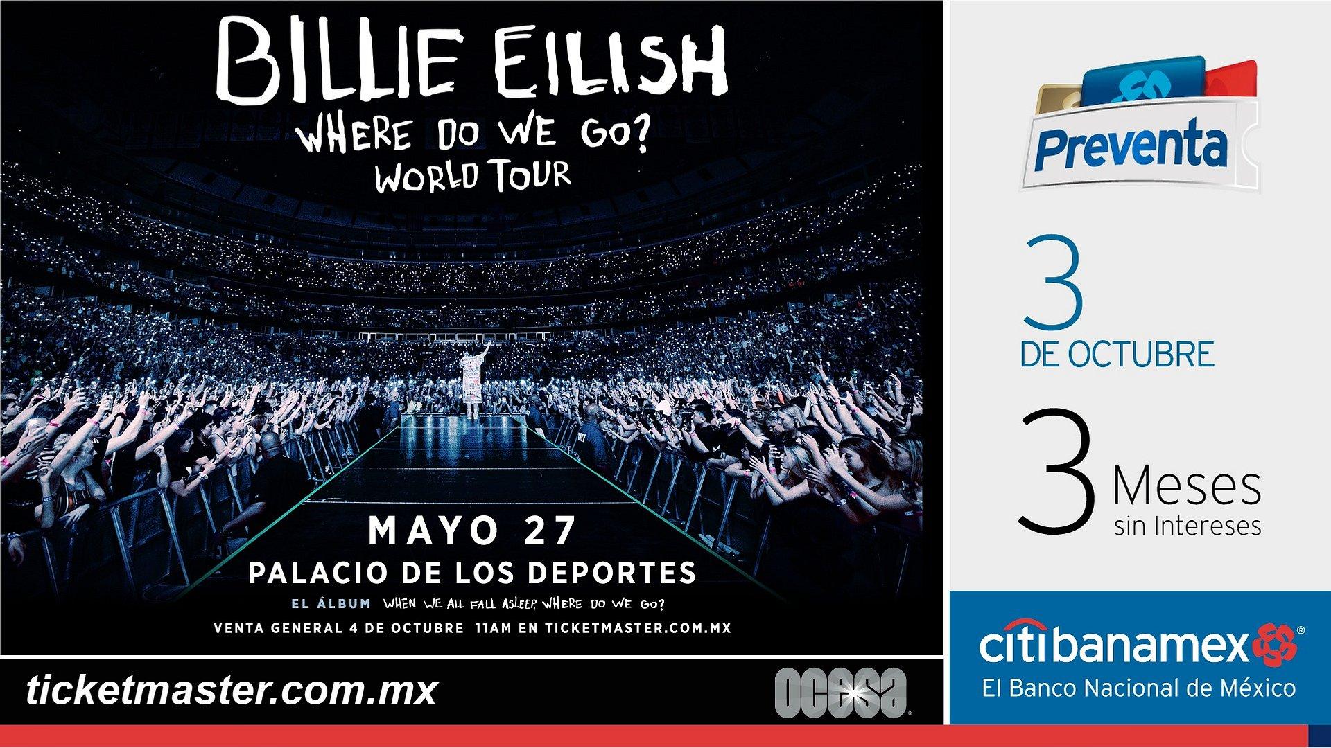 BILLIE EILISH ANUNCIA SU WHERE DO WE GO? WORLD TOUR