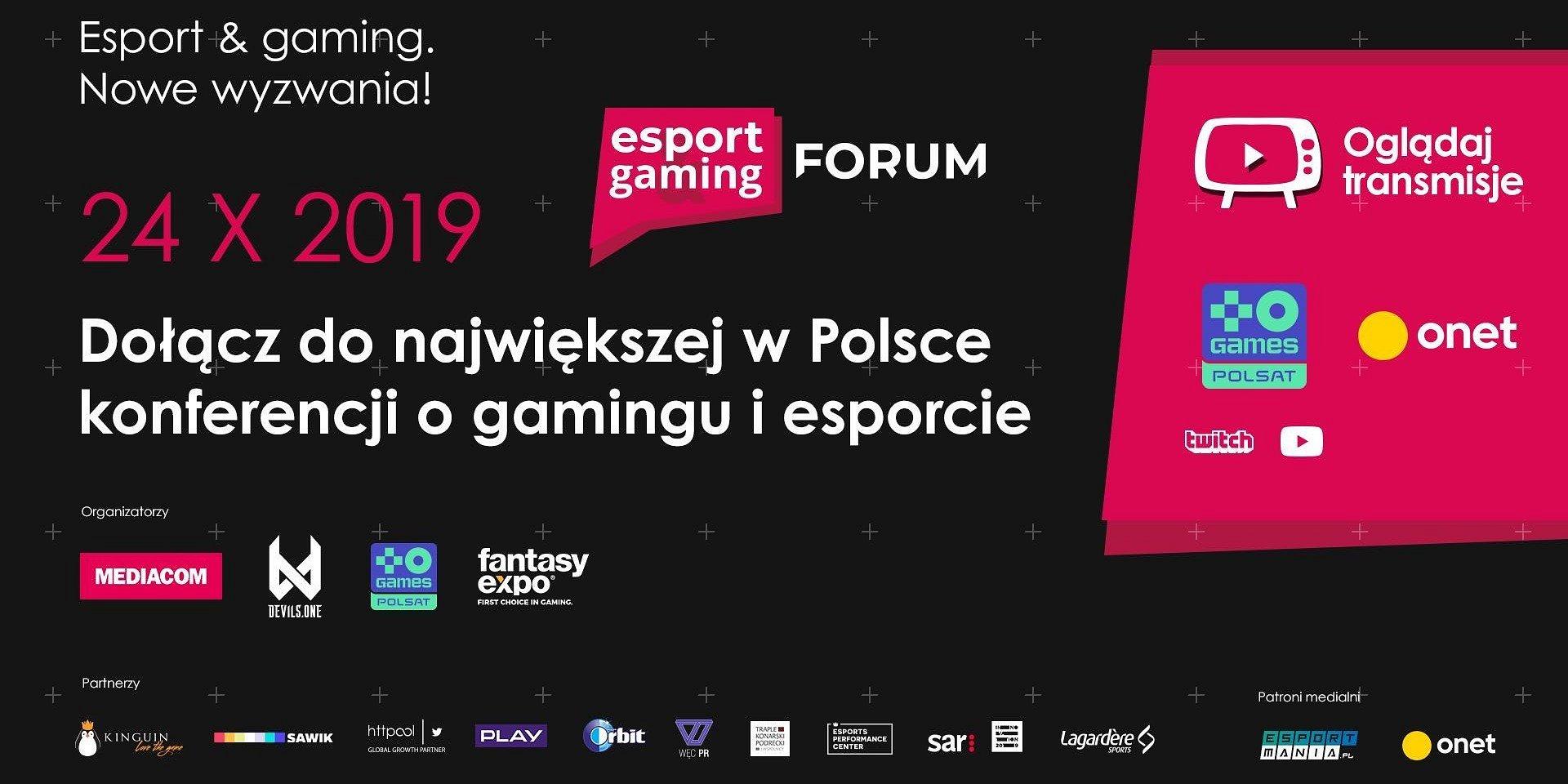 Esport & Gaming Forum - to już druga edycja największej w Polsce konferencji poświęconej cyfrowej rozrywce i sportom elektronicznym