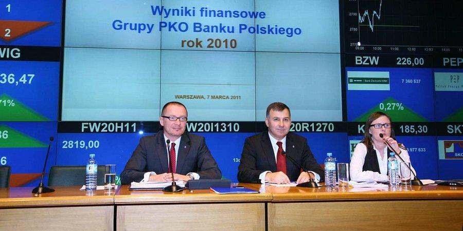 Record profits for PKO Bank Polski Group for 2010