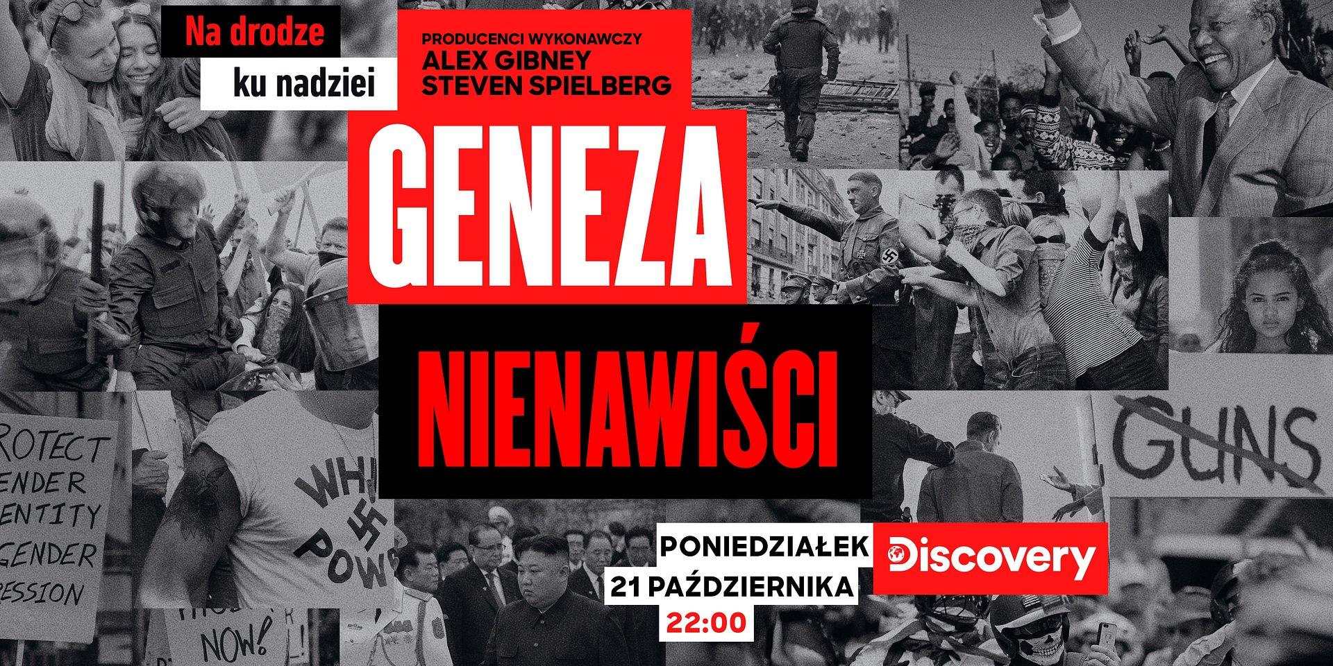 """Nowy serial dokumentalny laureatów Oscara® Alexa Gibneya i Stevena Spielberga """"Geneza nienawiści"""" już w październiku w Discovery Channel!"""