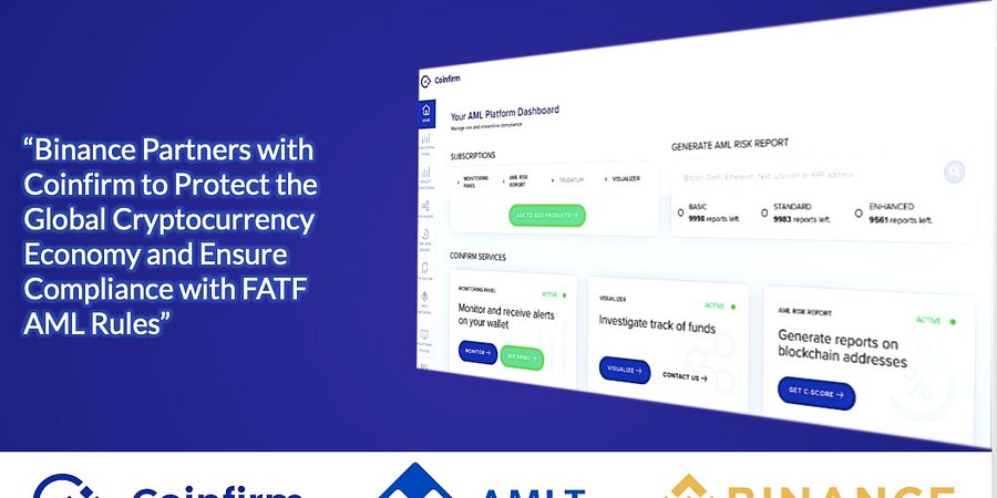 Binance Partners with Coinfirm to Protect the Global Cryptocurrency Economy and Ensure Compliance with FATF AML Rules
