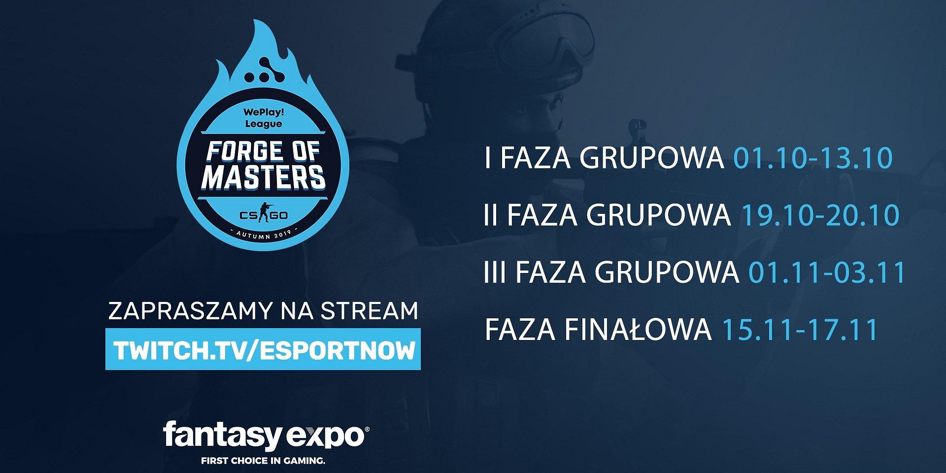 Fantasyexpo rozpieszcza kibiców CS:GO. Trwa turniej WePlay - Forge of Masters 2019 Autumn, a wraz z nim polska transmisja!