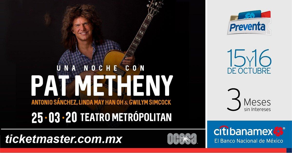 PAT METHENY ANUNCIA CONCIERTO EN LA CIUDAD DE MÉXICO