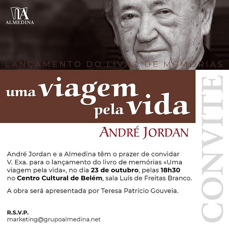 CONVITE: Lançamento do livro de memórias de André Jordan | 23 outubro | 18h30 | CCB