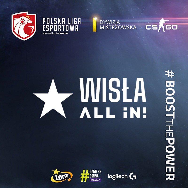Wisła Kraków na inauguracji Polskiej Ligi Esportowej