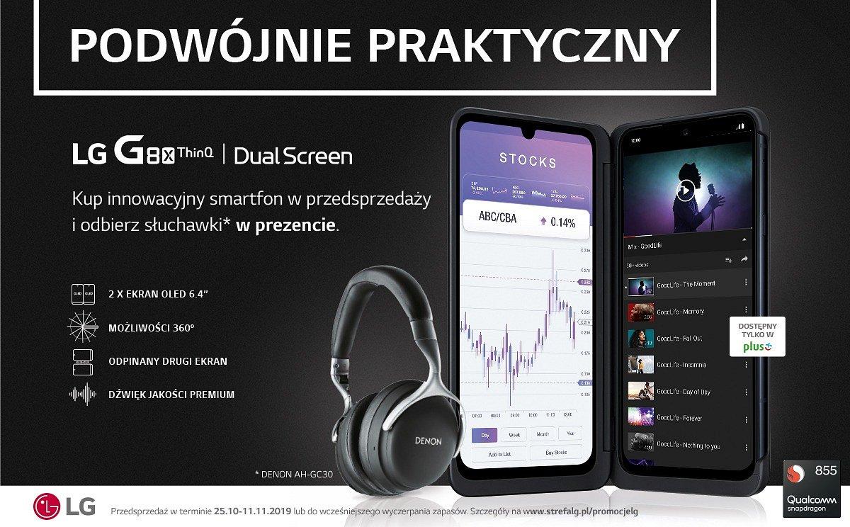 Podwójnie praktyczny LG G8X ThinQ z dodatkowym ekranem LG Dual Screen od dziś w przedsprzedaży w sieci Plus!