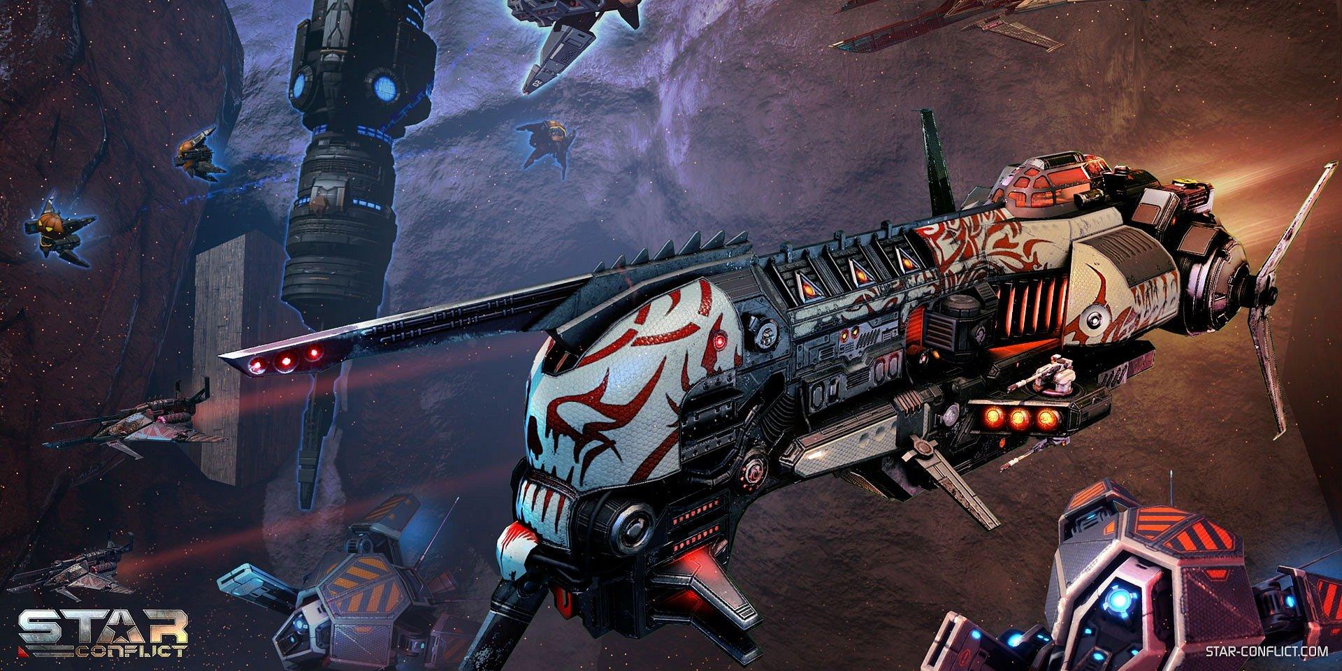 Vesmírny Halloween v hre Star Conflict prináša ničiteľa duchov a vybúchajúce tekvice