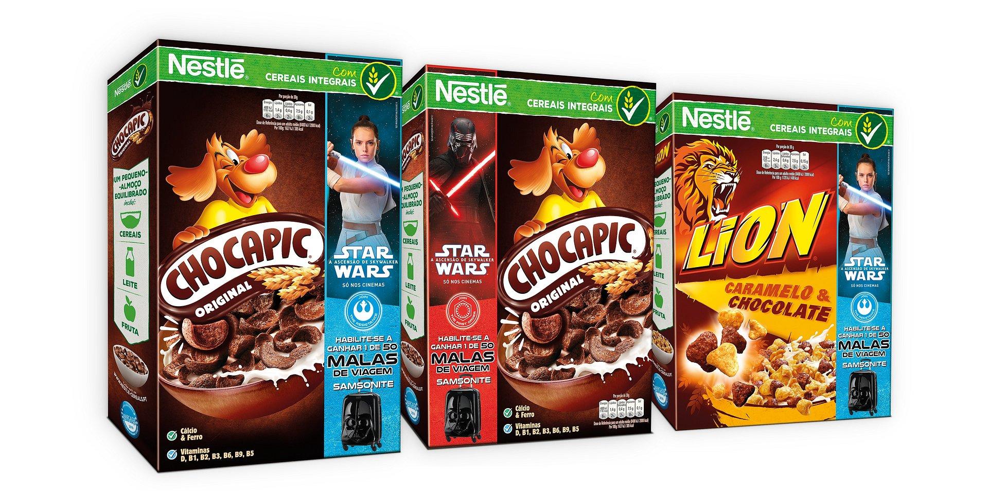 Cereais Nestlé lançam promoção de outra galáxia