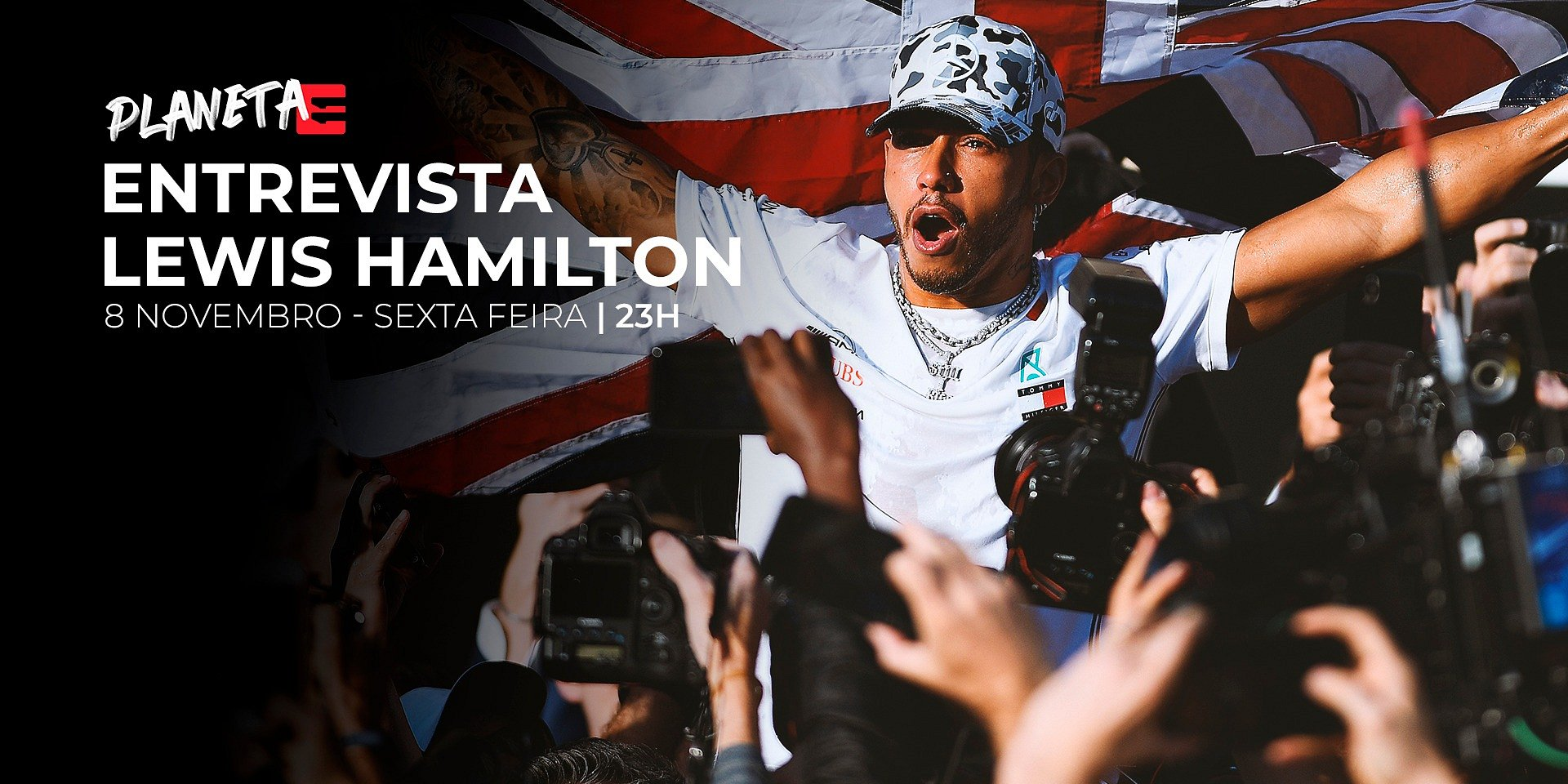 Lewis Hamilton revela inspiração e angústias de infância em entrevista à Eleven Sports