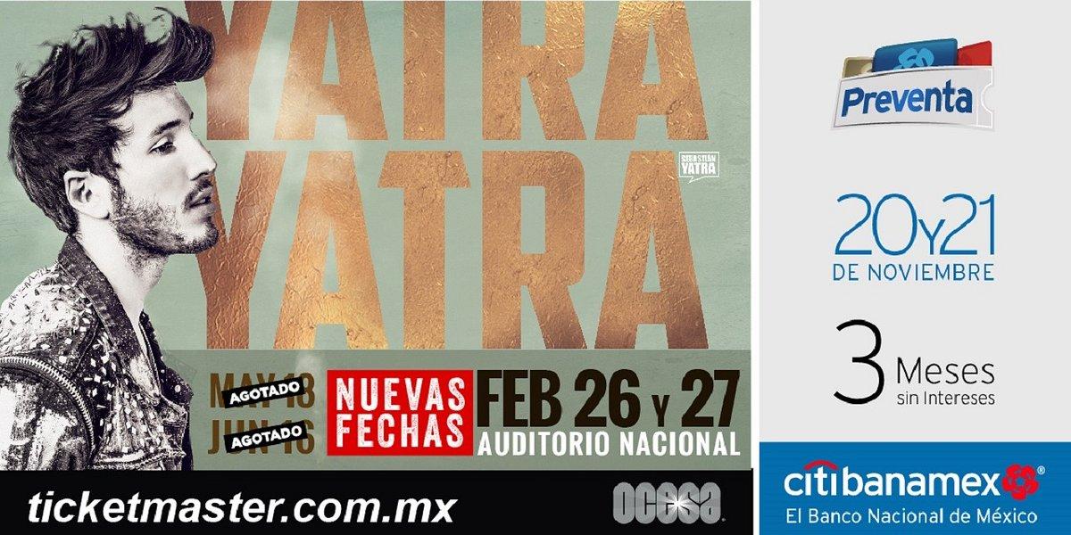 ¡¡Sebastián Yatra tomará de nueva cuenta el escenario del  Auditorio Nacional!!