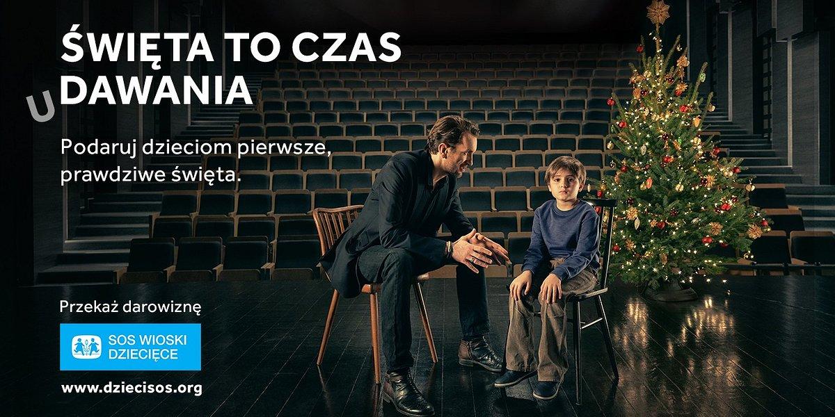 Święta to czas udawania – niezwykłe lekcje aktorstwa w nowej kampanii świątecznej SOS Wiosek Dziecięcych