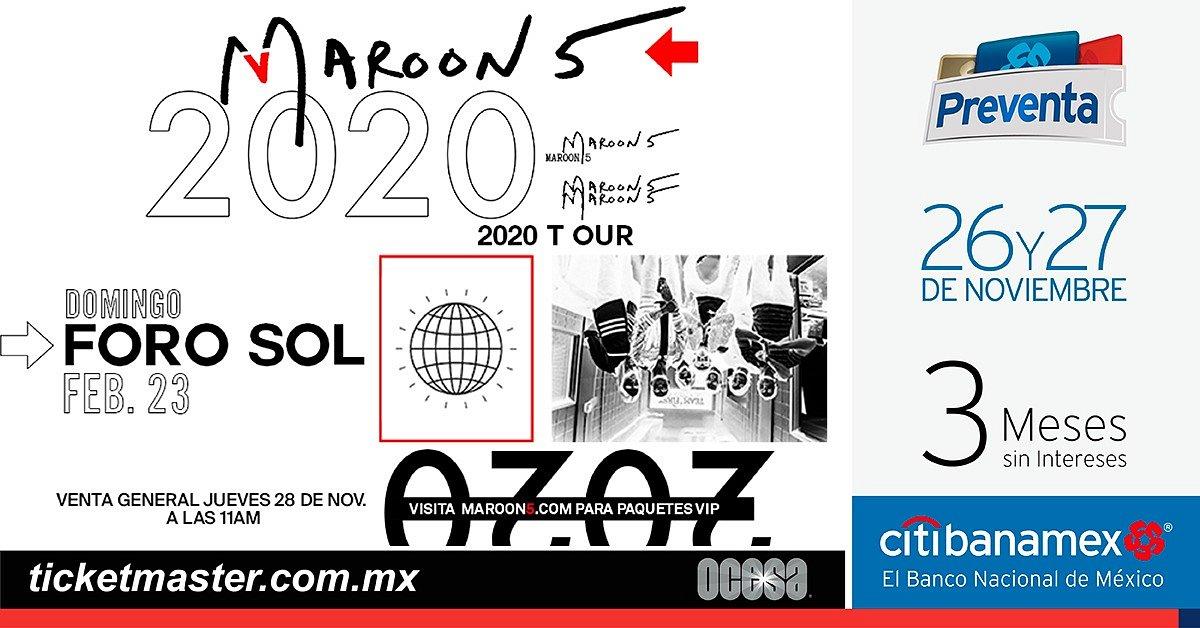 MAROON 5 ANUNCIA CONCIERTO EN MÉXICO