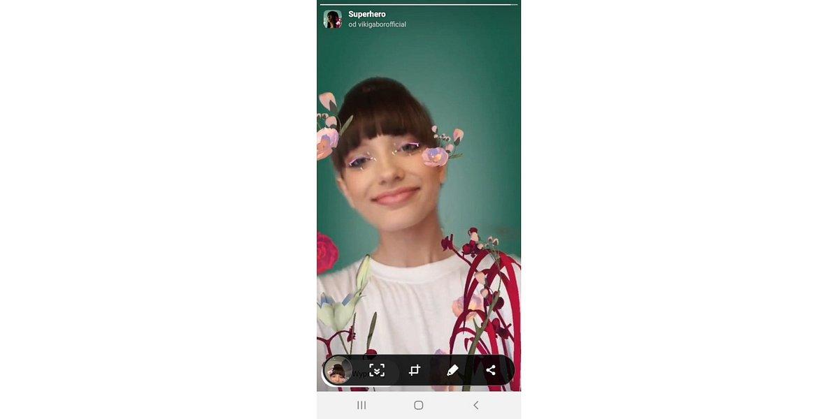 """Ty też możesz być """"Superhero""""! Viki Gabor ma własny filtr na Instagramie"""