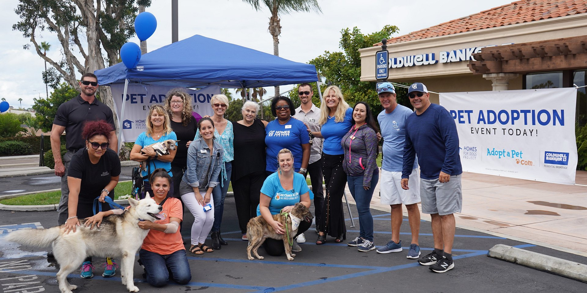 "The Carlsbad Office of Coldwell Banker Residential Brokerage & Last Chance at Life for National ""Homes for Dogs"" Adoption Weekend"