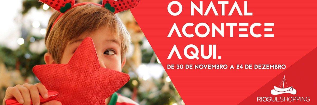 O Natal está a chegar ao RioSul Shopping