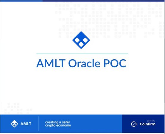 The AMLT Oracle POC for the Decentralized Economy