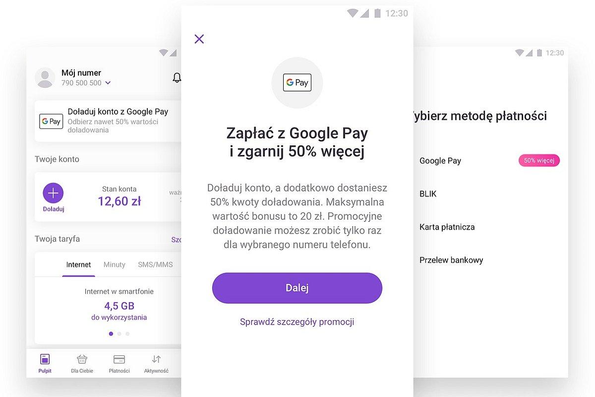 Doładuj konto w aplikacji Play24 z Google Pay i odbierz bonus od Play