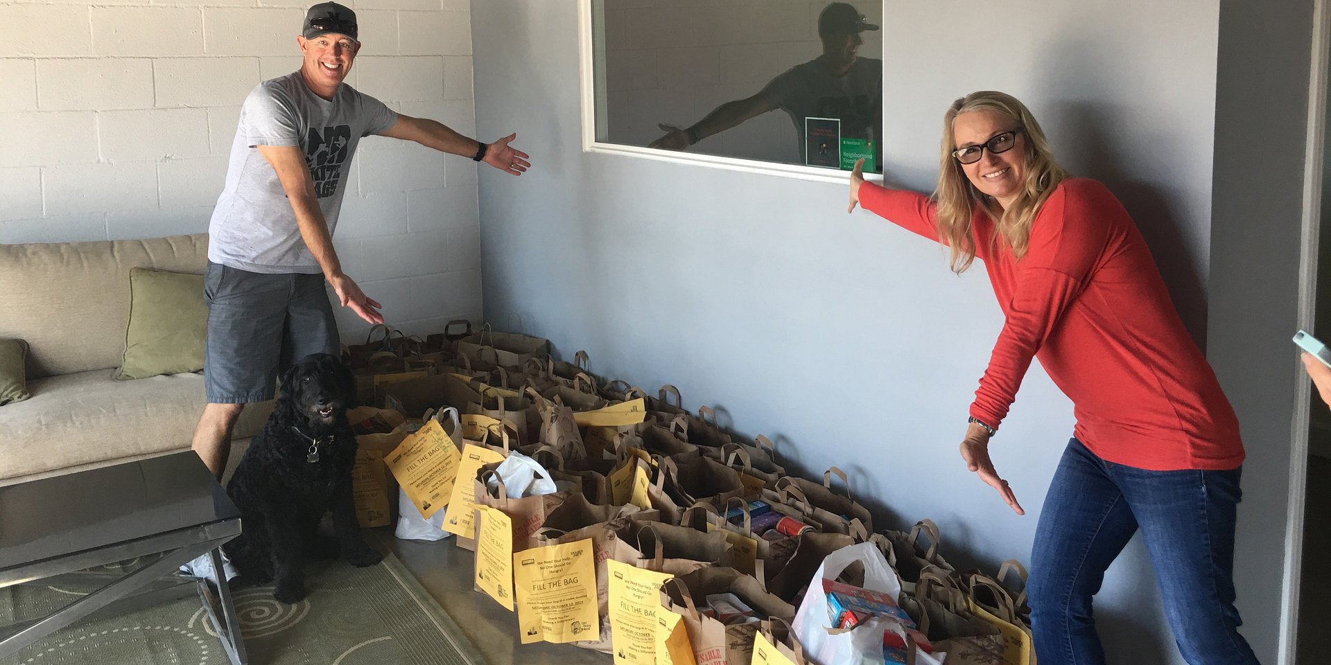 Coldwell Banker's Mercedes Van Pelt Collects More Than 552 Lbs. of Food for Eight Families and New Haven Ministries