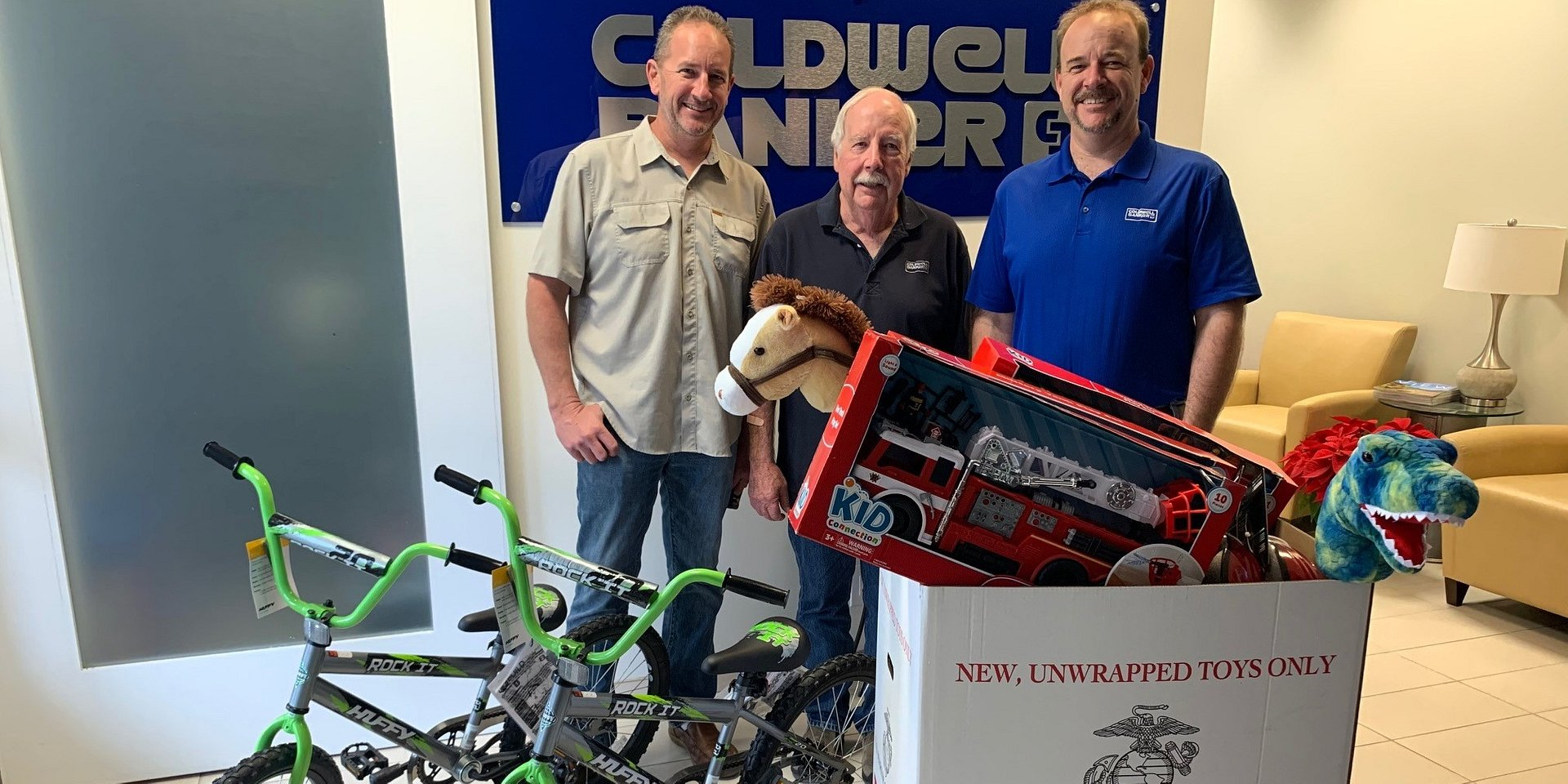 The Rancho Bernardo Office of Coldwell Banker Residential Brokerage Collected More Than 200 Toys for Toys for Tots