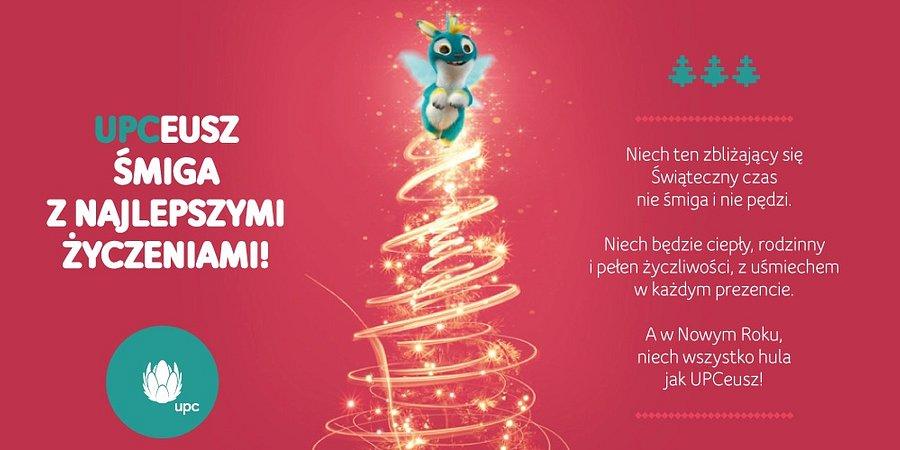Najlepsze życzenia z okazji Świąt Bożego Narodzenia śle zespół UPC Polska!