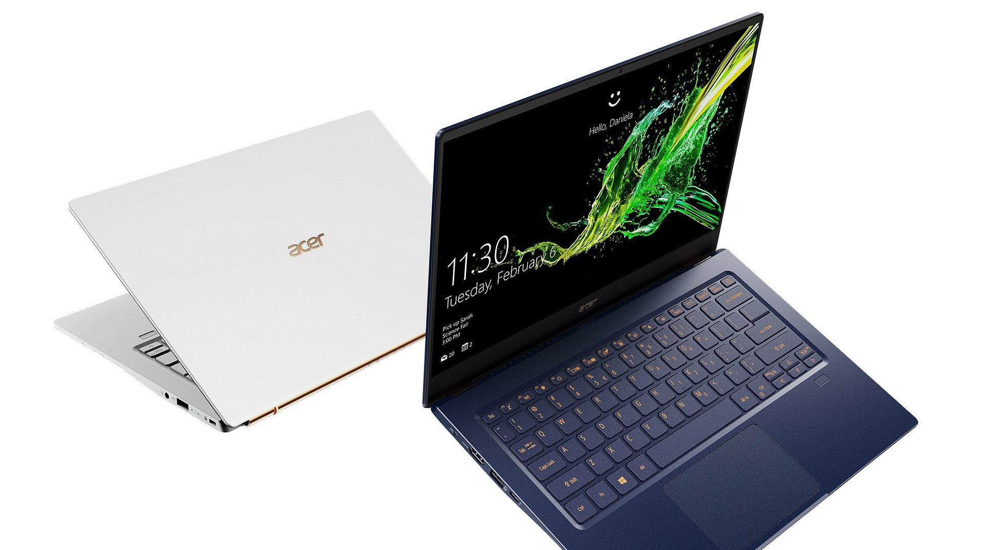 Najnowsze modele Acer Swift i Aspire dostępne w Polsce z energooszczędnymi procesorami 10. generacji Intel Core