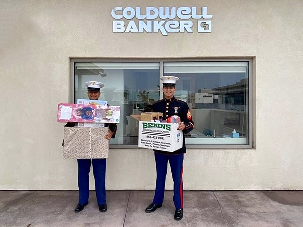 The Palos Verdes, Redondo Beach and Manhattan Beach Offices of Coldwell Banker Residential Brokerage Collected 50 Toys for Toys for Tots