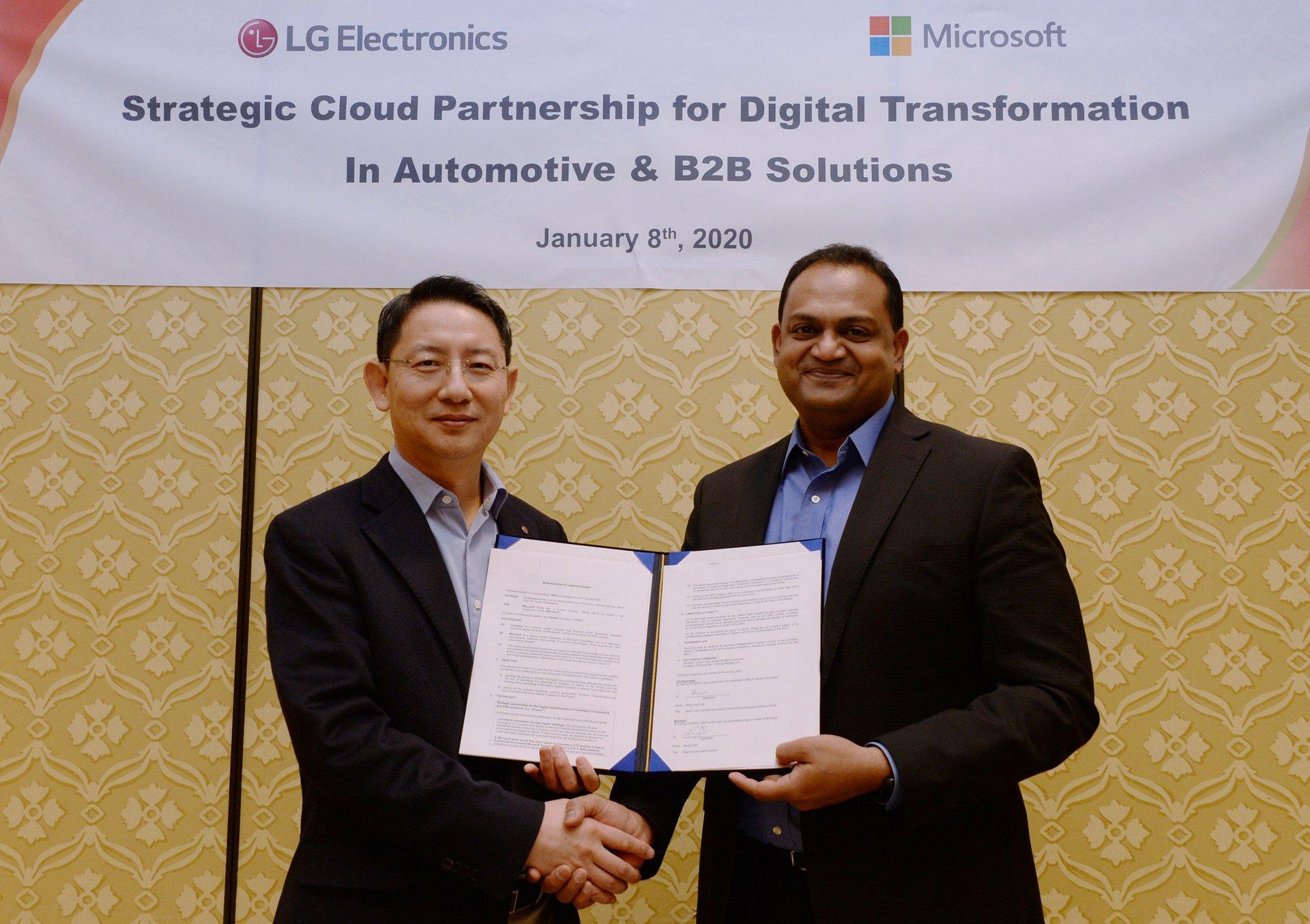 CES 2020: LG i Microsoft przyspieszają prace nad innowacjami ze sztuczną inteligencją dla klientów B2B